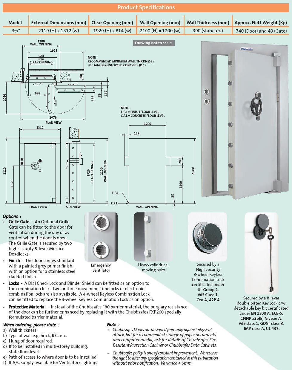 3.5\  strongroom door specifications  sc 1 st  Kulim Typewriters & Kulim Typeriwters